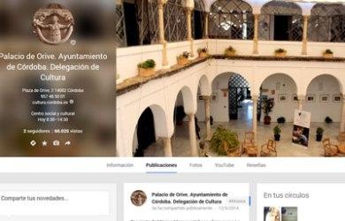 Página en Google+ de la Delegación de Cultura del Ayuntamiento de Córdoba